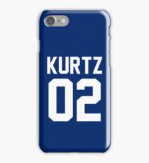 """Kurtz """"02"""" Jersey iPhone Case/Skin"""