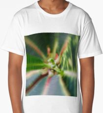 Abstract floral twirled background Long T-Shirt