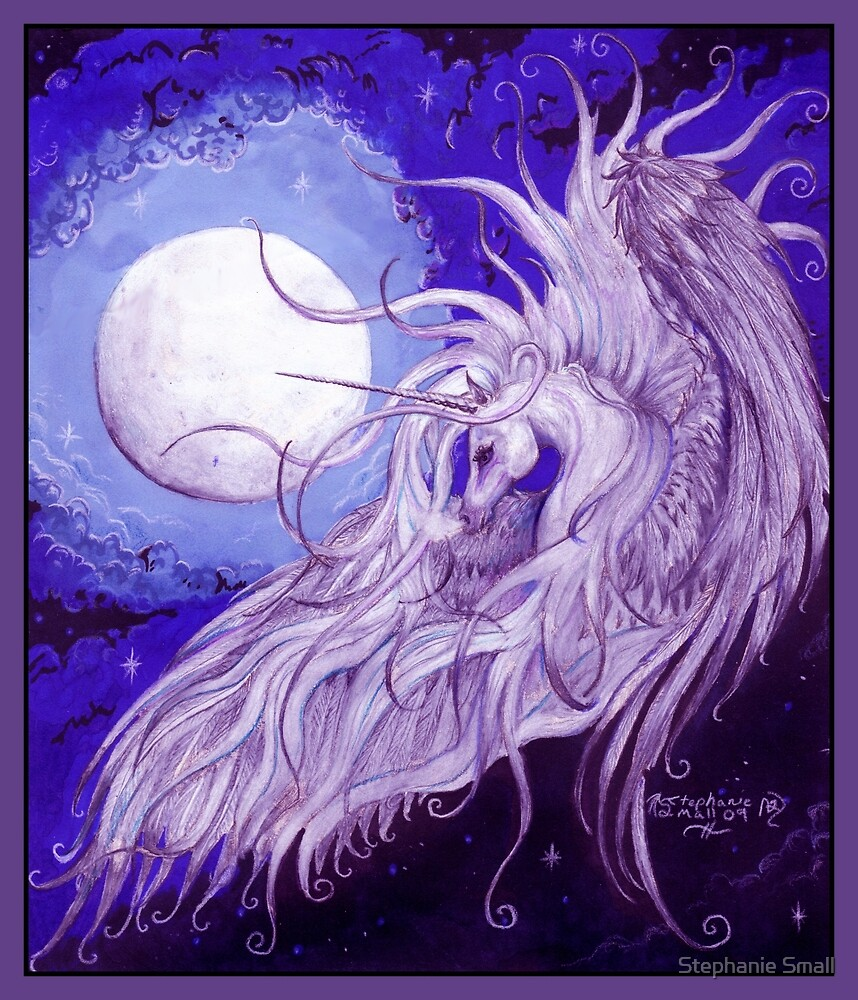 Winged Moon Unicorn by Stephanie Small