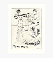 Graphic Novel Art: The Girl's No Good! Art Print