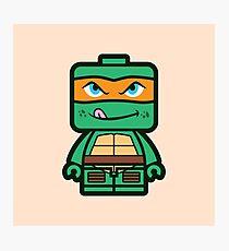 Chibi Michelangelo Ninja Turtle Photographic Print
