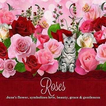 Rose Garden Kitty  by SalonOfArt
