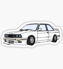 WHITE E30 Sticker
