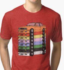 MULTI-COLORED E30(S) Tri-blend T-Shirt