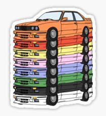 MULTI-COLORED E30(S) Sticker