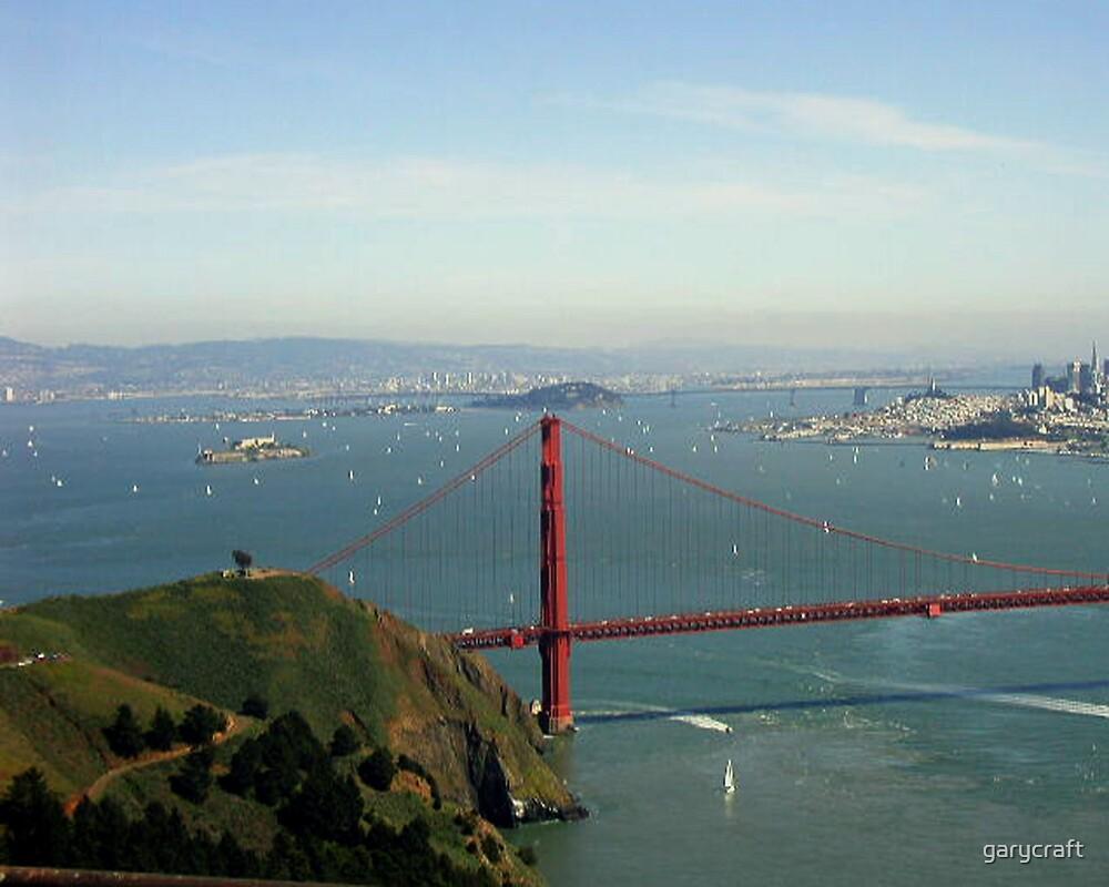 SAN FRANCISCO BAY & The Golden Gate Bridge by garycraft