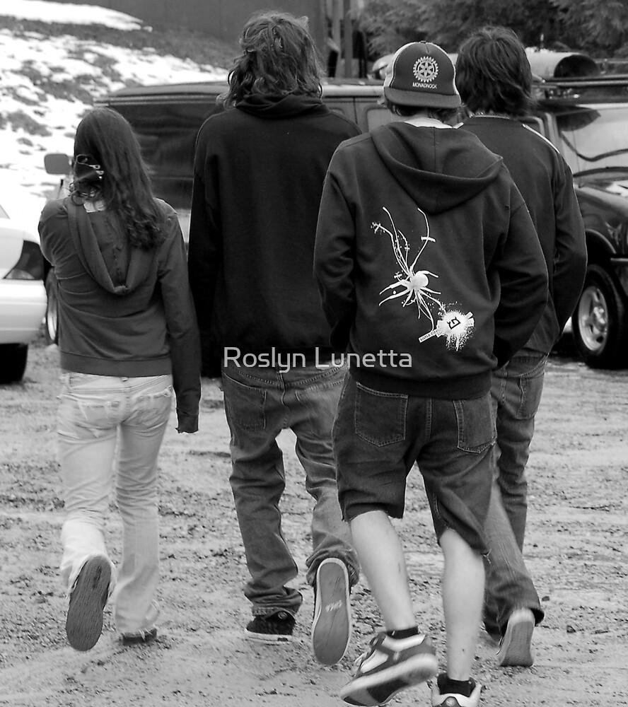 walking away... by Roslyn Lunetta