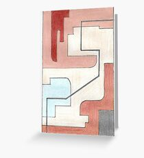 Original Abstract Art: Earth Tones Greeting Card