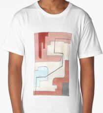 Original Abstract Art: Earth Tones Long T-Shirt