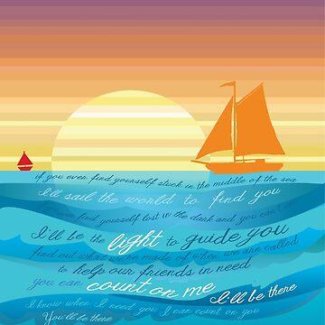 Count On Me Ocean Illustration by DesireeNguyen