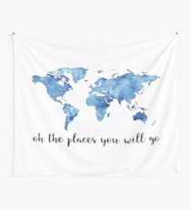 OH THE PLACES YOU WILL GO Wall Tapestry