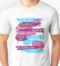 Friends From Other Ends - Coral and Purple Unisex T-Shirt