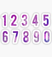 Purple Watercolor Number Stickers Sticker