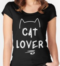Cat Lover - White Women's Fitted Scoop T-Shirt