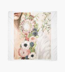 Original Floral Painting: Natural Girl Scarf