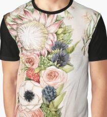 Original Floral Painting: Natural Girl Graphic T-Shirt