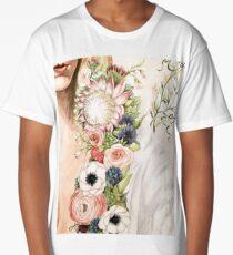 Original Floral Painting: Natural Girl Long T-Shirt