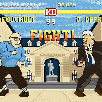 French Theory Fighter - Foucault vs Derrida by LeVendeur