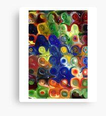 Glass Block Flowers  Canvas Print