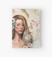 Original Floral Portrait Painting: Au Naturale Hardcover Journal