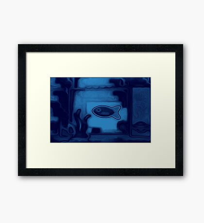 Blue Fish /Vivid 2015 Framed Print