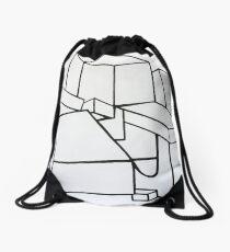 Abstract Art: Minimalist Cubsim Drawstring Bag