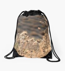 Dry grass Drawstring Bag