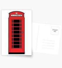 British Red Phone Box Postcards