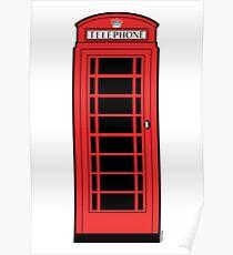 British Red Phone Box Poster