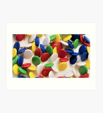 Heap of colorful round pushpins  Art Print