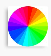 The Rainbow Spectrum, Wheel of Colors/Colours Canvas Print