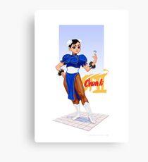 Street fighter 2 - Chun Li Canvas Print