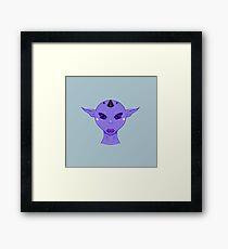 Beautiful Purple Sci-Fi Woman Framed Print