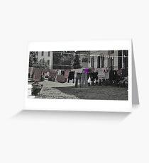 Daily shag poetry (purple) Greeting Card