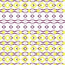 Beautiful Shape Movement Yellow and Purple by Joy Watson