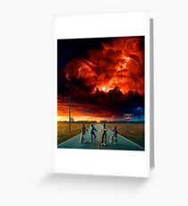 STRANGER THINGS SEASON TWO Greeting Card