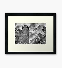 Castle of Fenis, Tower and Wall - Italy Framed Print