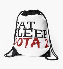 eat, sleep, dota 2 Drawstring Bag