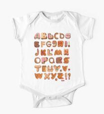 Sweet English Alphabet Font Kids Clothes
