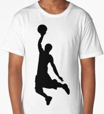 Basketball Player, Slam Dunk Silhouette Long T-Shirt