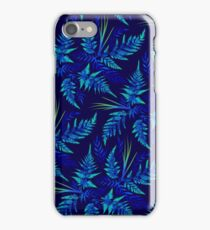 Fern Leaves - Blue iPhone Case/Skin