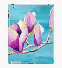 Magnolias painting in alcohol inks iPad Case/Skin
