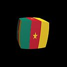 Cameroon Flag cubed. by stuwdamdorp