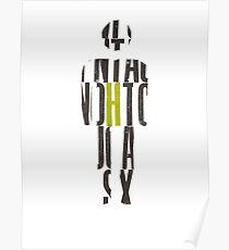 Letterpress MAN Poster