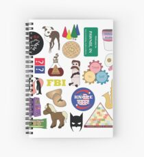 Parks and Rec Flatlay Spiral Notebook