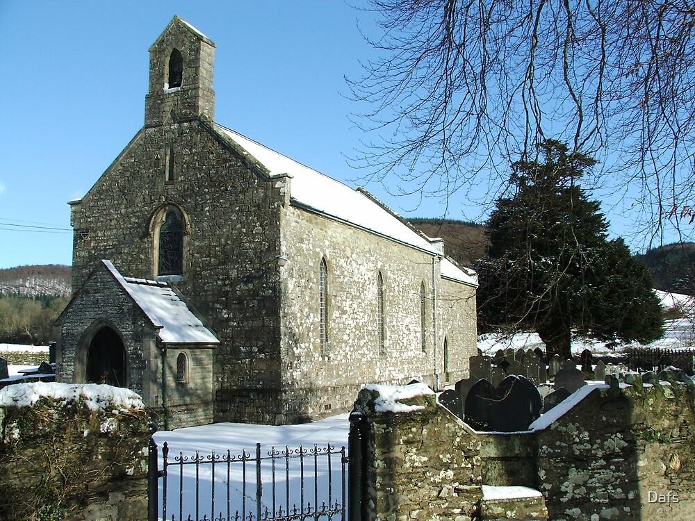 Llanllawddog church   by Dafs