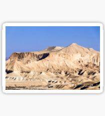 White sand mountains in desert Sticker