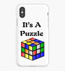 It's A Puzzle cube iPhone Case/Skin