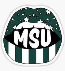 MSU Lips Sticker