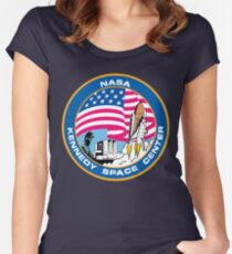 old logo kennedy space center Women's Fitted Scoop T-Shirt